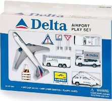 Delta Airlines Die Cast Playset (12pc Set)