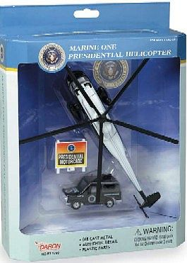 Realtoy International USMC VH3D Sea King Marine One Presidential Helicopter Die Cast Playset (3pc Set)