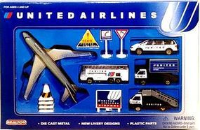 United Airlines Die Cast Playset (12pc Set)
