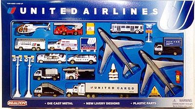 Realtoy International United Airlines Die Cast Playset (30pc Set)