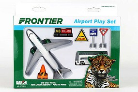 Realtoy Frontier Airlines Die Cast Playset (10pc Set)