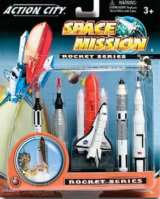 Realtoy Space Shuttle & 4 Rockets Plastic Playset