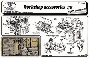 Royal-Model Workshop Accessories- various tools, welding mask, etc. (Photo-Etch) 1/35 Scale 39