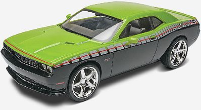 Revell-Monogram 2013 Challenger SRT8 Foose Design (Green/Black) -- 1/25 Scale Plastic Model Car Kit -- #4398