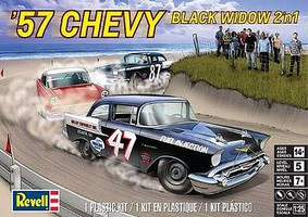 Revell-Monogram 1/25 1957 Chevy Black Widow Stock Race Car (2 in 1)
