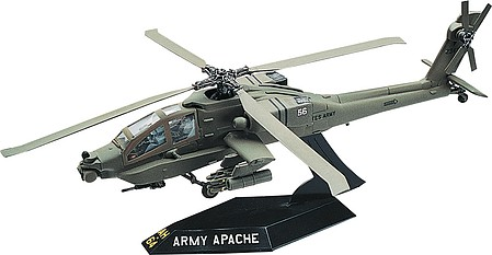 Revell-Monogram Apache Helicopter -- Snap Tite Plastic Model Aircraft Kit -- 1/72 Scale -- #851183