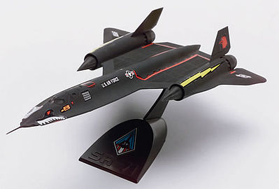 Revell-Monogram SR-71A Blackbird -- Snap Tite Plastic Model Aircraft Kit -- 1/110 Scale -- #851187