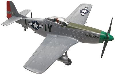 P-51D Mustang Snap Tite Plastic Model Aircraft Kit 1/72 Scale #851374