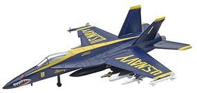 Revell-Monogram F/A-18 Super Hornet Blue Angels Snap Tite Plastic Model Aircraft Kit 1/100 Scale #851379