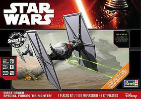 Revell-Monogram First Order Special Forces TIE Fighter Snap Tite Plastic Model Figure #851634