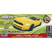 Revell-Monogram 2015 Mustang GT Yellow Snap Tite Plastic Model Car Kit 1/25 Scale #851697