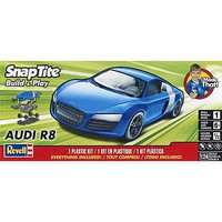 Revell-Monogram Audi R8 Blue Snap Tite Plastic Model Car Kit 1/24 Scale #851698