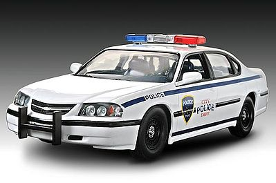 Revell-Monogram 2005 Impala Police Car -- Snap Tite Plastic Model Vehicle Kit -- 1/25 Scale -- #851928