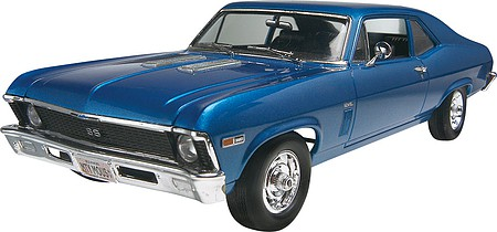 Revell-Monogram 1969 Chevy Nova SS -- Plastic Model Car Kit -- 1/25 Scale -- #852098