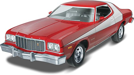 Revell-Monogram Starsky & Hutch Ford Torino Plastic Model Car Kit 1/25 Scale #854023