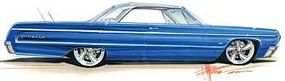 Revell-Monogram 1964 Chevy Impala Plastic Model Car Kit 1/25 Scale #854050