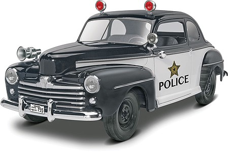 Revell-Monogram 1948 Ford Police Coupe 2n1 Plastic Model Car Kit 1/25 Scale #854318
