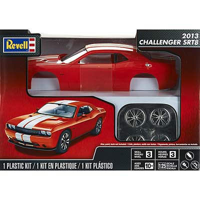Revell-Monogram 2013 Challenger SRT8 Orange -- Plastic Model Car Kit -- 1/25 Scale -- #854390