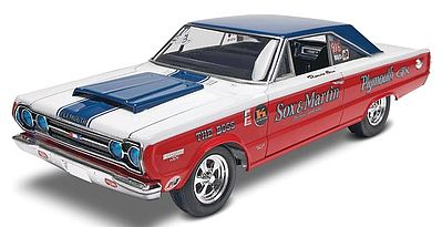 Revell-Monogram Sox/Martin '67 Plymouth GTX -- Plastic Model Car Kit -- 1/25 Scale -- #854916