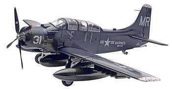 Revell-Monogram Skyraider AD-5 (A-1E) -- Plastic Model Airplane Kit -- 1/48 Scale -- #855327