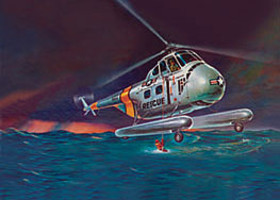 Revell-Monogram H-19 Rescue Helicopter Plastic Model Helicopter Kit 1/48 Scale #855331