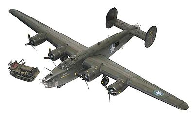 Revell-Monogram B-24D Liberator -- Plastic Model Airplane Kit -- 1/48 Scale -- #855625