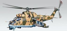 Revell-Monogram MiL24 Hind Plastic Model Helicopter Kit 1/48 Scale #855856