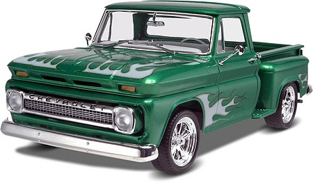 Revell-Monogram 1965 Chevy Stepside Pickup 2'n1 -- Plastic Model Truck Kit -- 1/25 Scale -- #857210