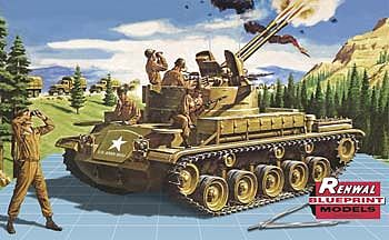 Revell-Monogram M-42 Twin Forty Renwal -- Plastic Model Military Vehicle Kit -- 1/32 Scale -- #857822