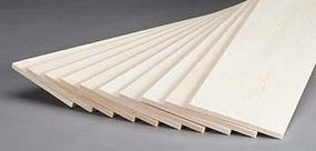 Revell-Monogram Basswood Sheet 1/4x4x24 (10)