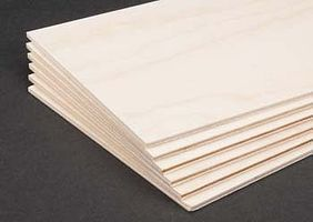 Revell-Monogram Birch Plywood 3mm 1/8x6x12 (6)