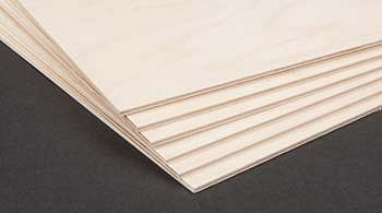 Birch Plywood 3mm 1/8x12x12 (6)