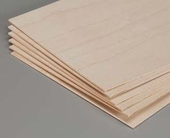Revell-Monogram Model Birch Plywood 1/16x6x12 (6)