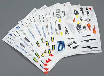 Revell-Monogram Peel & Stick Decal D-F Assortment #2 (6) -- Pinewood Derby Decal and Finishing -- #y8675