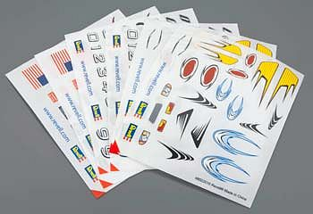 Revell-Monogram Peel & Stick Decal H-J Assortment #3 (6) -- Pinewood Derby Decal and Finishing -- #y8679