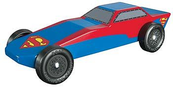 Revell-Monogram Superman Sports Car Racer Series Kit -- Pinewood Derby Car -- #y9404