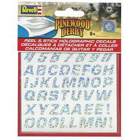 Revell-Monogram Peel & Stick Holographic Decal Numbers/Letters Pinewood Derby Decal and Finishing #y9446