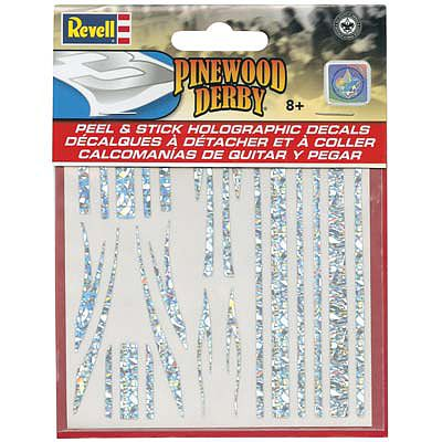 Revell-Monogram Peel & Stick Holographic Decal Stripes -- Pinewood Derby Decal and Finishing -- #y9448