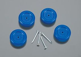 Revell-Monogram Official BSA Wheel & Axle Set Blue Pinewood Derby Wheel and Axel #y9611