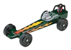Revell-Monogram Dragster Racer Kit Pinewood Derby Car #y9635
