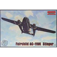 Roden Fairchild AC119K Stinger Ground Support Plastic Model Airplane Kit 1/144 #322