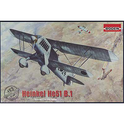 Roden Model Aircrafts Heinkel He.51 B.1 -- Plastic Model Airplane Kit -- 1/48 Scale -- #452