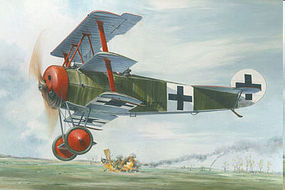Roden 1/32 Fokker Dr I Red Baron WWI German Triplane Fighter