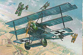 Roden 1/32 Fokker FI WWI German Triplane Fighter