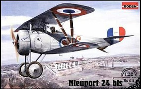 Roden 1/32 Nieuport 24bis WWI Biplane Fighter