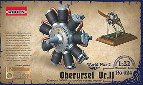 Roden 1/32 Oberursel Ur II WWI Aircraft Engine