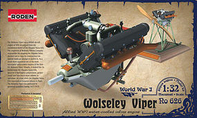 Roden 1/32 Wolseley W4A Viper WWI V-Figurative Water-Cooled Aircraft Engine