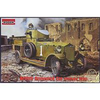 Roden Pattern 1914 WWI British Armored Car Plastic Model Military Vehicle Kit 1/35 Scale #803