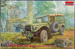 Roden M37 US 3/4 Ton 4x4 Cargo Truck Plastic Model Military Vehicle Kit 1/35 Scale #806
