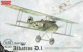 Roden Albatros D.I Plastic Model Airplane Kit 1/72 Scale #rd0001